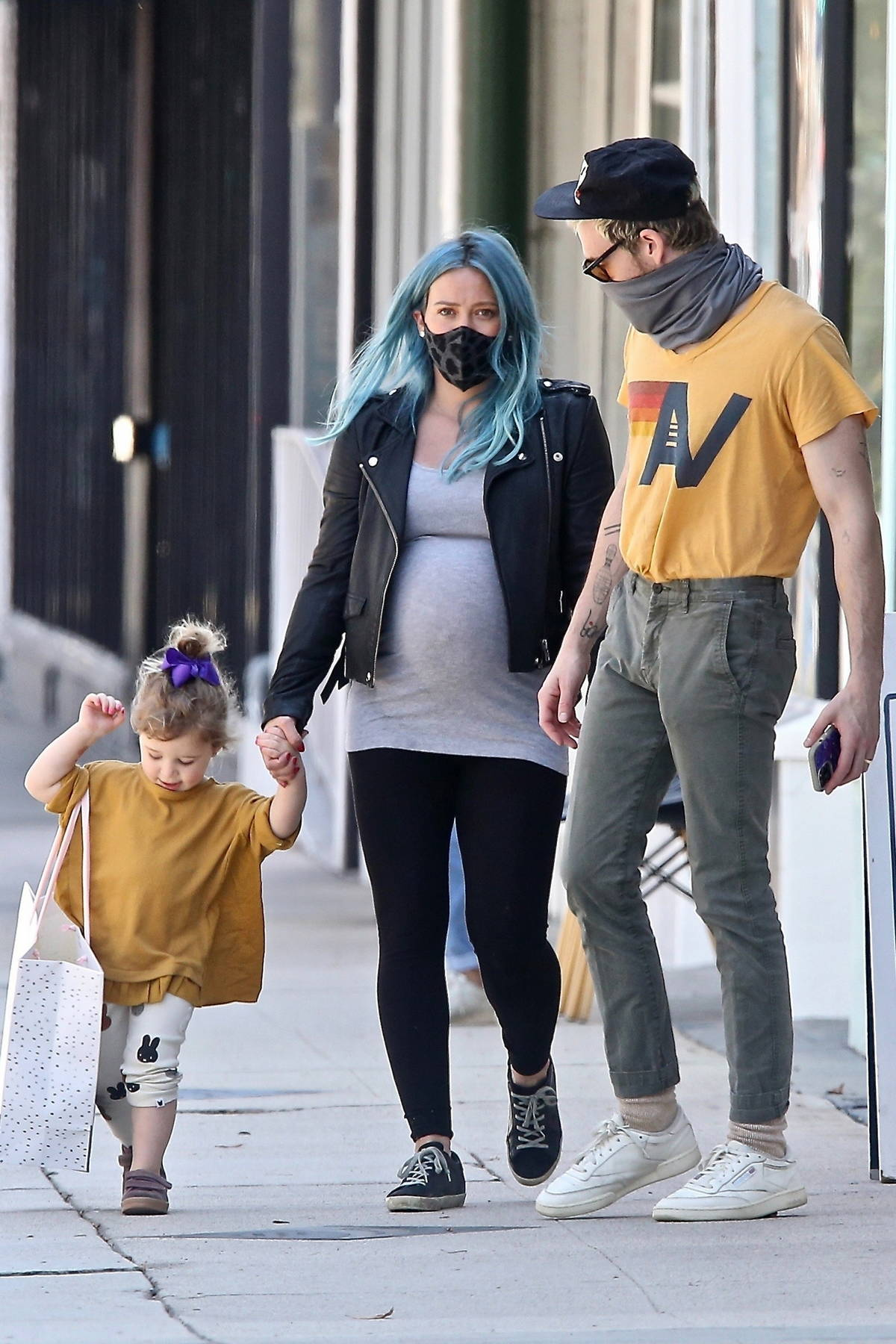 Hilary Duff takes her daughter to a party supply store before spending some time at a local park in Studio City, California