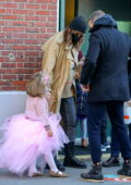 Irina Shayk and Bradley Cooper step out together as they take their daughter to school ahead of her 4th birthday, New York City