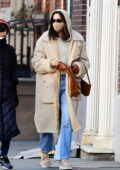 Irina Shayk keeps it fashionable with her stylish winter ensemble while out in SoHo, New York City