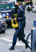 Irina Shayk puts on a stylish display in all-black as she steps out in lower Manhattan, New York City