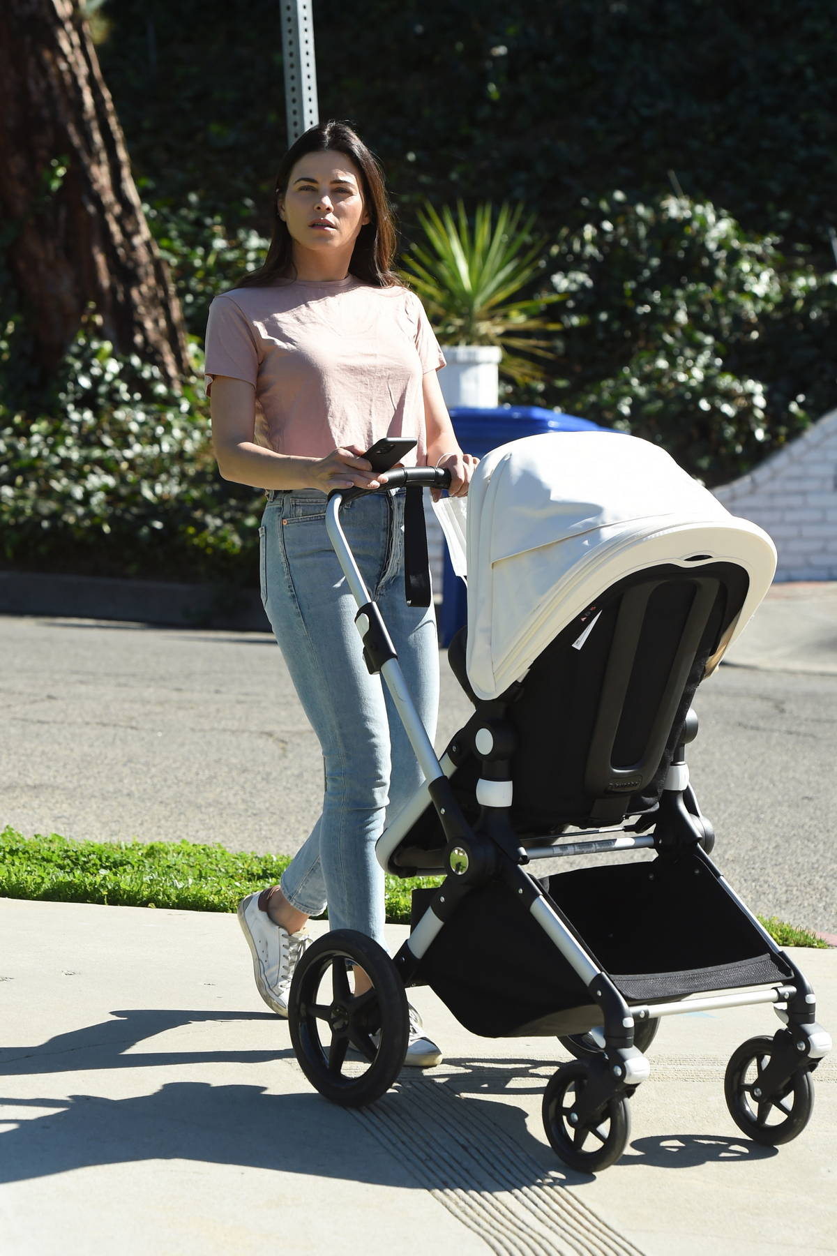 Jenna Dewan steps out makeup free as she takes her son out for stroll in Los Angeles