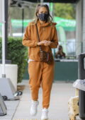 Jessica Alba steps out with her family to celebrate her father-in-law's birthday in Beverly Hills, California
