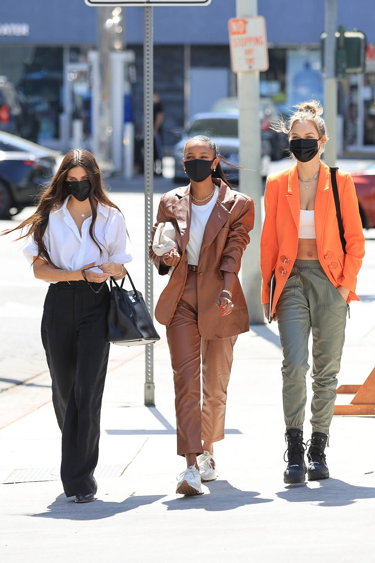 Josephine Skriver, Jasmine Tookes, and Sara Sampaio step out together for lunch in Los Angeles