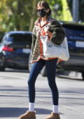 Kaia Gerber stays cozy in a teddy coat and leggings attending a Pilates session in West Hollywood, California