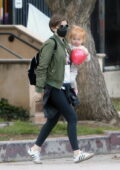 Kate Mara takes her daughter out for a play date at the park in Silver Lake, California