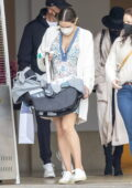 Katharine McPhee and David Foster spotted out as a family for the first time as they enjoy a birthday brunch in Beverly Hills, California