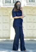 Katharine McPhee rocks double denim as she returns to American Idol in Los Angeles
