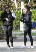 Katherine and Christina Schwarzenegger seen heading for their morning tennis lesson in Los Angeles