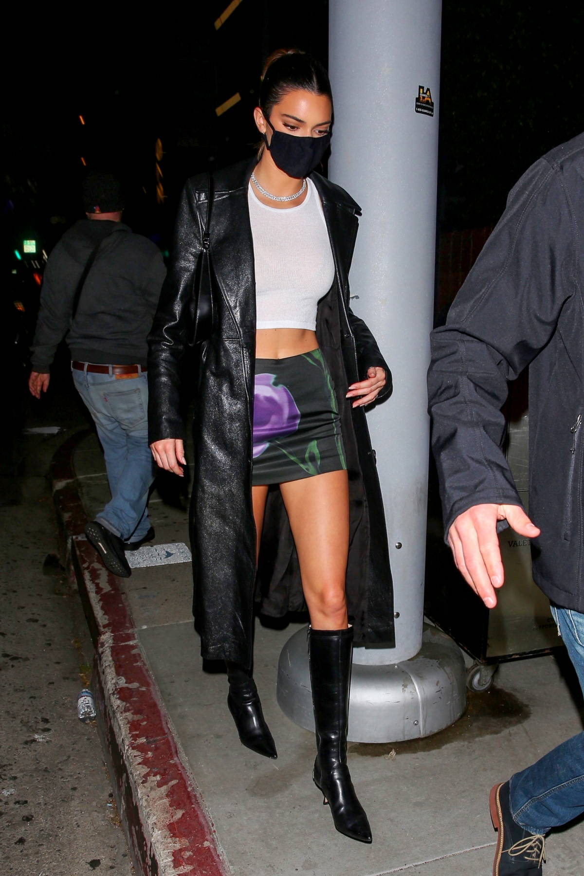 Kendall Jenner looks stunning as she arrives at Justin Bieber's album release party in West Hollywood, California