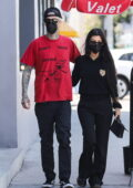 Kourtney Kardashian dons all-black for a lunch date with boyfriend Travis Barker in West Hollywood, California