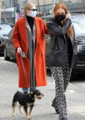 Madelaine Petsch and Miles Chamley-Watson bump into Lili Reinhart while out walking their dog in Vancouver, Canada