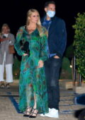 Paris Hilton steps out to dinner with fiancé Carter Reum and her parents at Nobu in Malibu, California