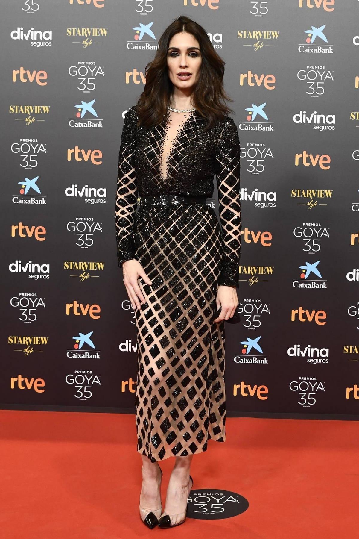 Paz Vega attends the Goya Cinema Awards 2021 at Gran Hotel Miramar in Malaga, Spain