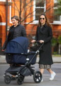 Pippa Middleton seen out for first time with her newborn daughter Grace in London, UK