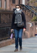 Rachel Weisz steps out on her 51st birthday for a walk around her neighborhood in Brooklyn, New York
