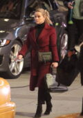 Reese Witherspoon and Jennifer Aniston work into the night on the set of 'The Morning Show' in Los Angeles