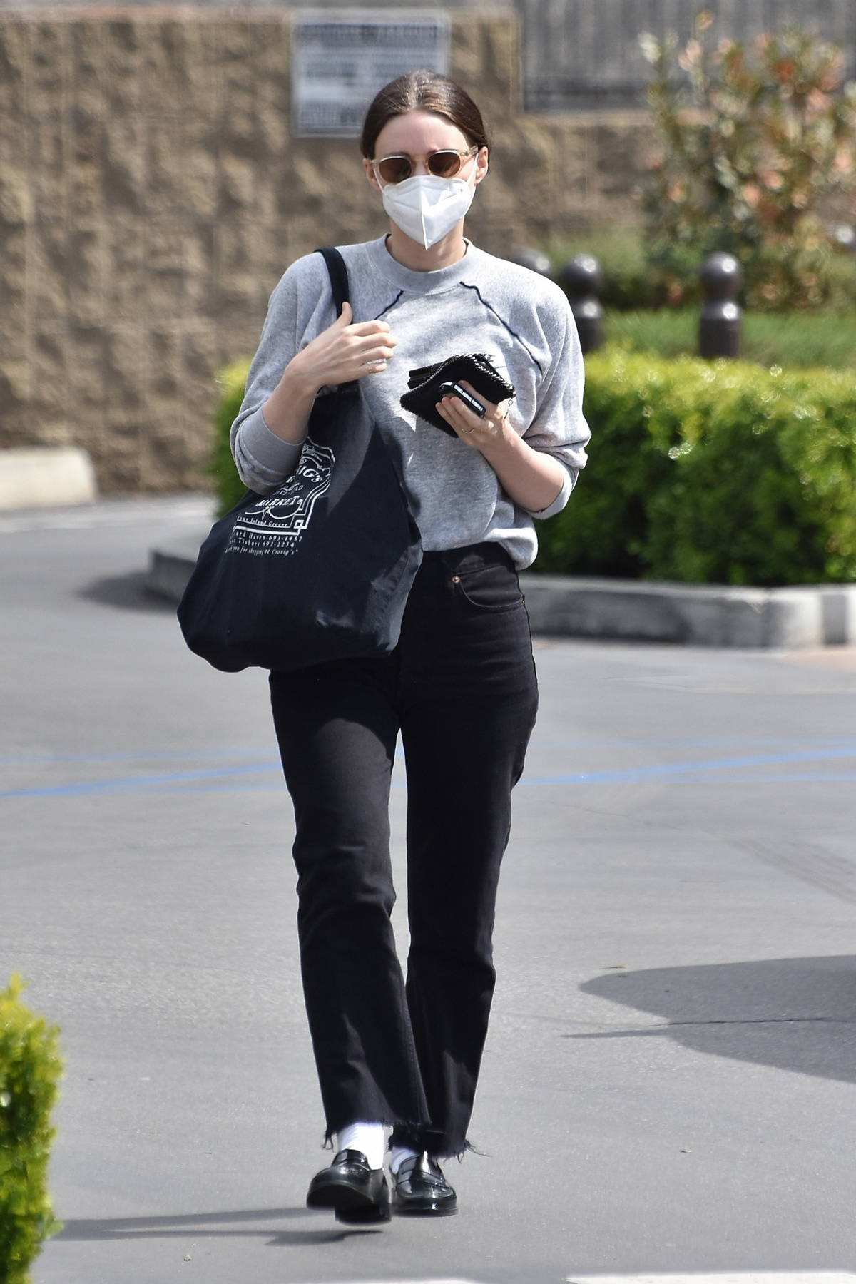 Rooney Mara makes a trip to the grocery store to grab a few essentials in Studio City, California