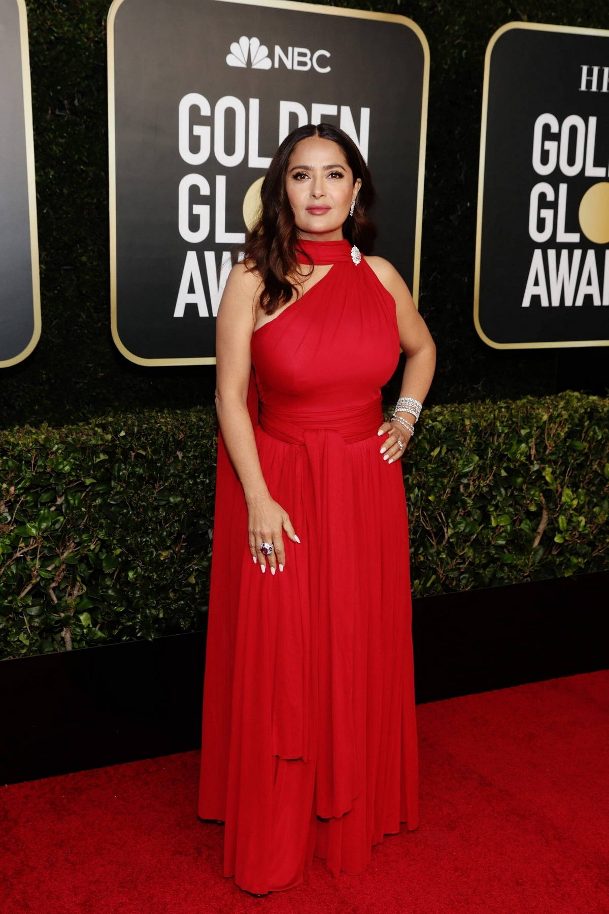 Salma Hayek attends the 78th Annual Golden Globe Awards at The Beverly Hilton in Beverly Hills, California