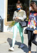 Sara Sampaio stops by the Urth Caffe after hitting the gym in West Hollywood, California