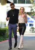 Saxon Sharbino and boyfriend Pierson Fodé pack on some PDA during a lunch date in Los Angeles