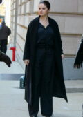 Selena Gomez looks stunning in black while filming scenes for 'Only Murders In The Building' In New York City