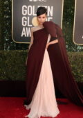 Sofia Carson attends the 78th Annual Golden Globe Awards at The Beverly Hilton in Beverly Hills, California