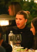 Sofia Richie enjoys a romantic dinner with a mystery man and friends in Santa Monica, California
