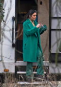 Vanessa Hudgens seen on set filming 'The Princess Switch 3' at Gosford House in Longniddry, Scotland