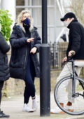Vanessa Kirby spotted with her parents and possibly her new boyfriend while checking out a house in North London, UK