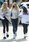 Alexis Ren steps out with Maddie Ziegler and Mackenzie Ziegler in Los Angeles