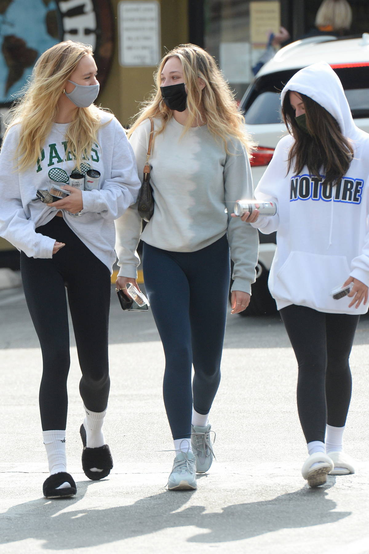 Alexis Ren steps out with Maddie Ziegler and Mackenzie Ziegler in Los Angeles