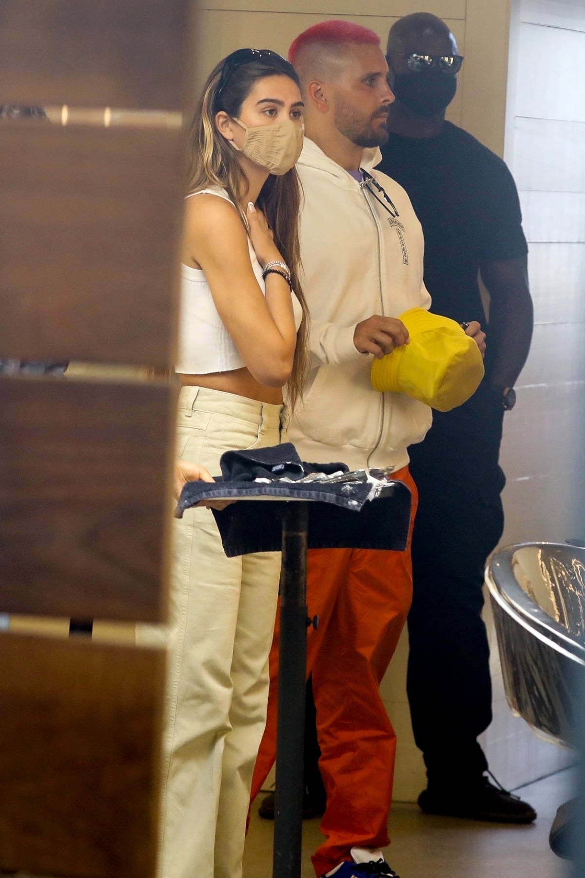 Amelia Hamlin and Scott Disick stop by a hair salon in Los Angeles