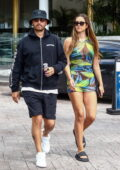 Amelia Hamlin looks amazing in a see-through floral print minidress as she and Scott Disick enjoy an afternoon in Miami Beach, Florida