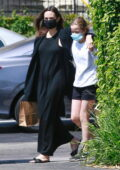 Angelina Jolie goes shopping for flowers with her daughter Vivienne in Los Feliz, California