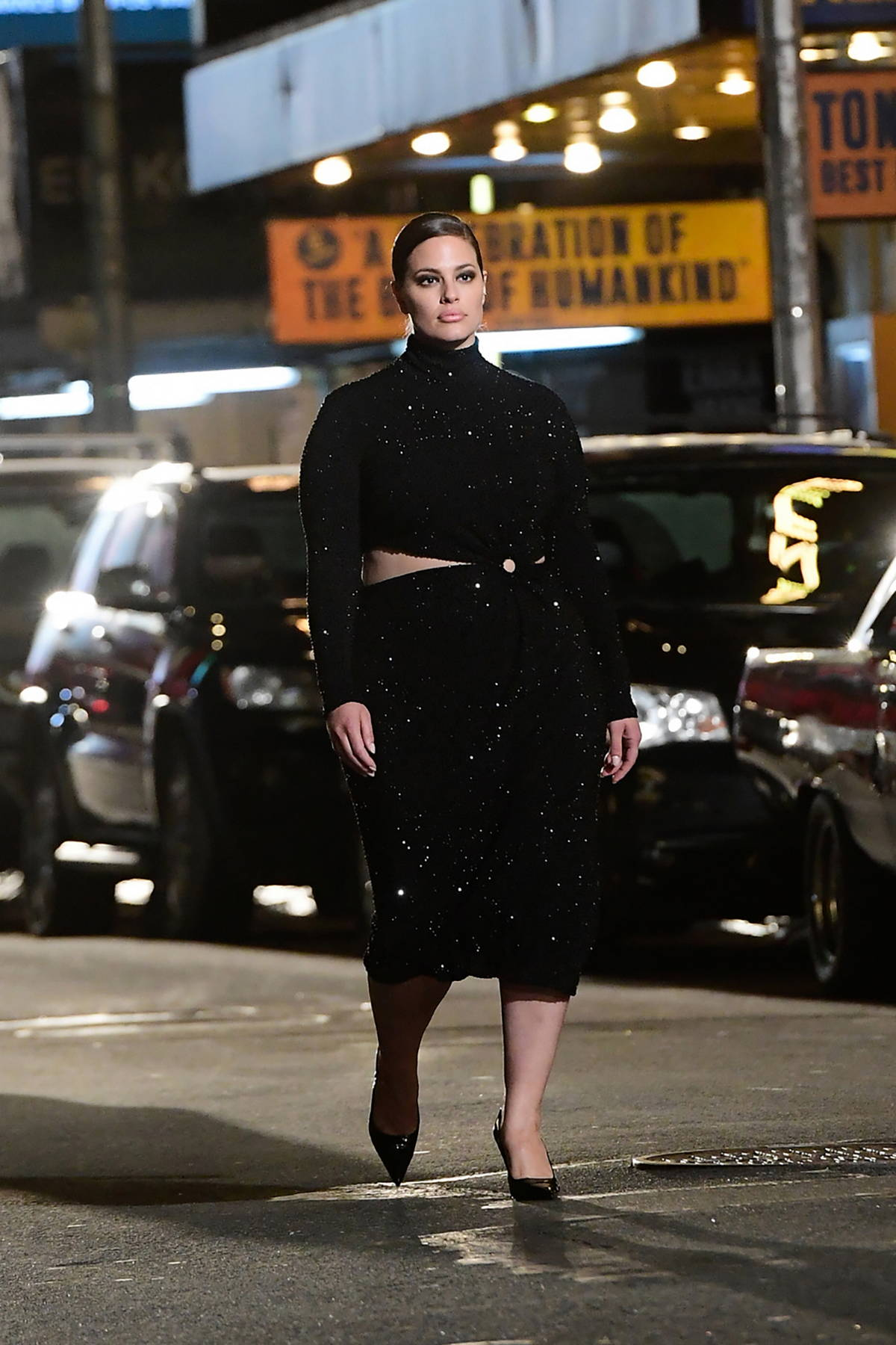 Ashley Graham walks the runway for Michael Kors 2021 Fashion Show in New York City