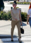 Ashley Greene dressed for business as she leaves after a lunch meeting in West Hollywood, California