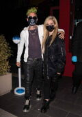 Avril Lavigne and Mod Sun enjoy a date night and make time for fans while leaving BOA steakhouse in Los Angeles