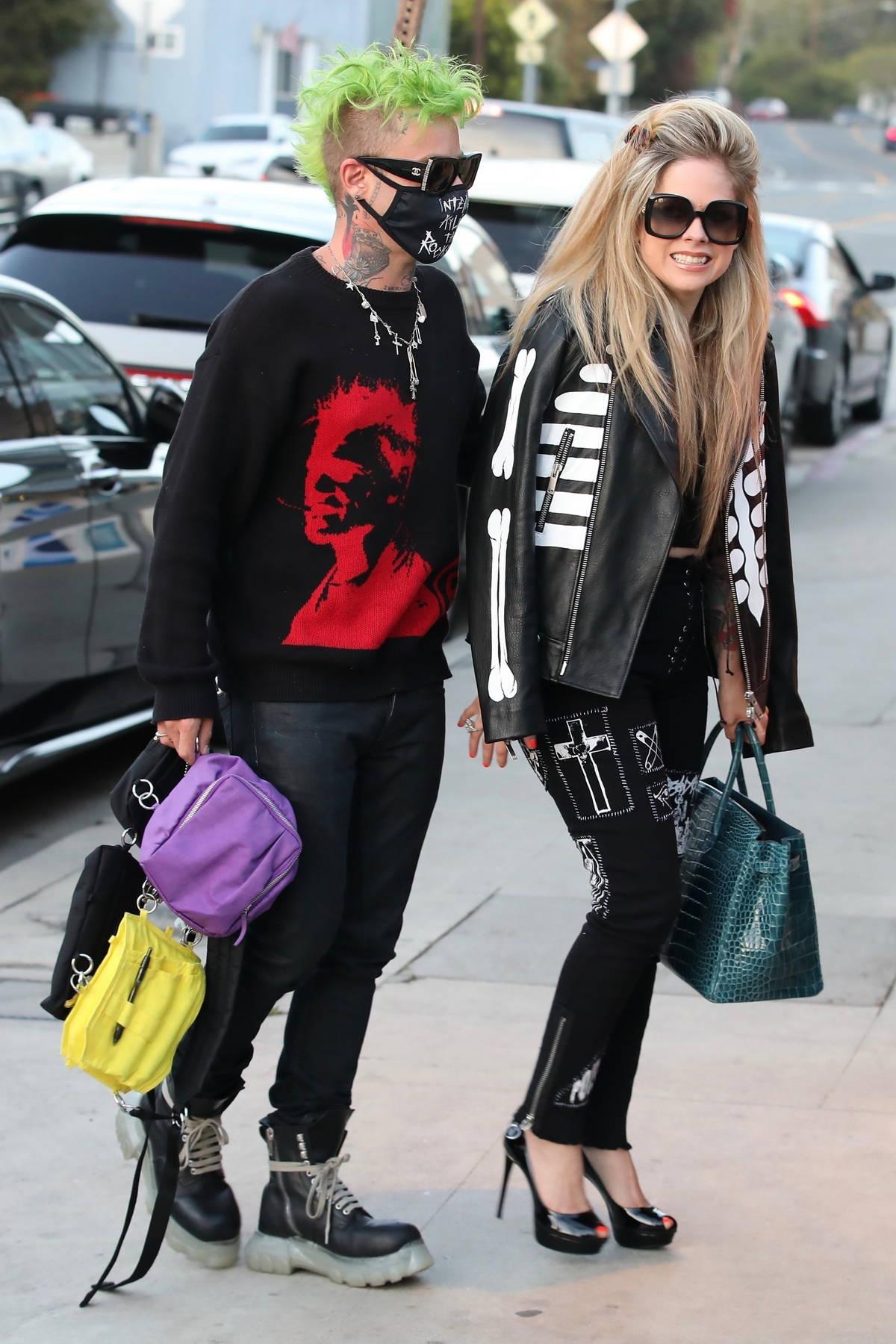 Avril Lavigne and Mod sun enjoy a romantic dinner at Giorgio Baldi in Santa Monica, California