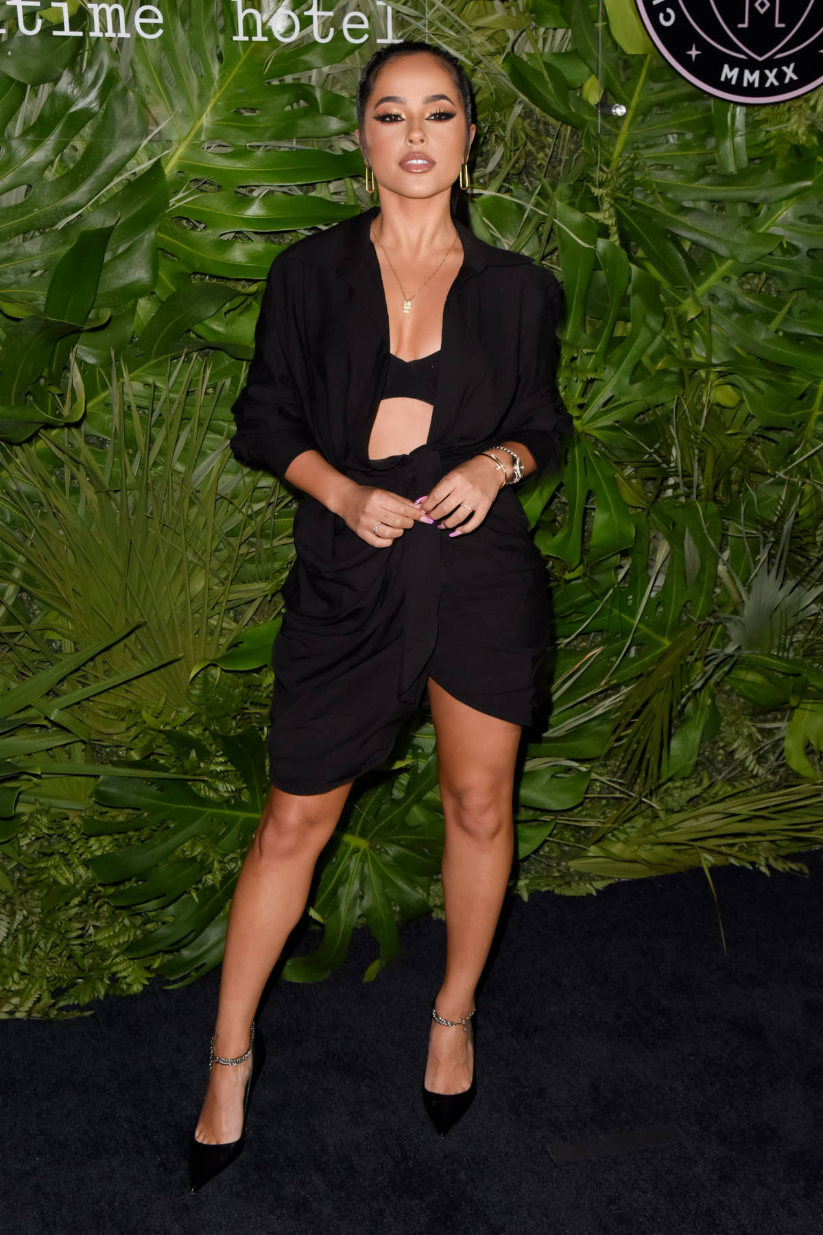 Becky G attends Inter Miami CF Season Opening Party at the Goodtime Hotel in Miami, Florida