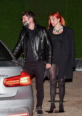 Bella Thorne and Benjamin Mascolo seen leaving after a romantic date night at Nobu in Malibu, California