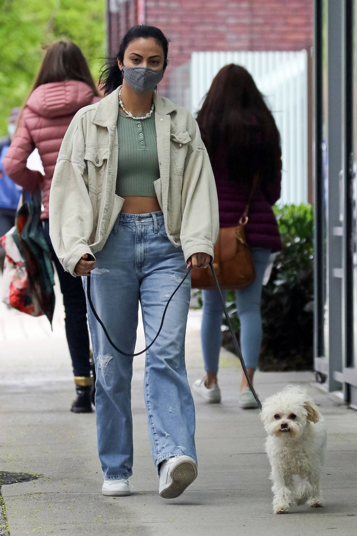 Camila Mendes stepped out to walk her dog in Vancouver, Canada
