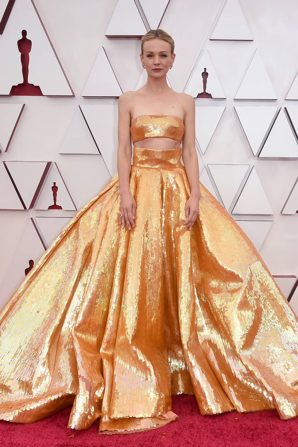 Carey Mulligan attends the 93rd Annual Academy Awards at Union Station in Los Angeles