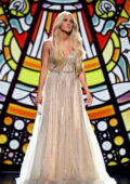 Carrie Underwood performs at the 56th Academy of Country Music Awards at the Grand Ole Opry in Nashville, Tennessee