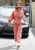 Chantel Jeffries keeps it comfy in Set Active sweats as she stops by Earth Bar for a smoothie in Los Angeles