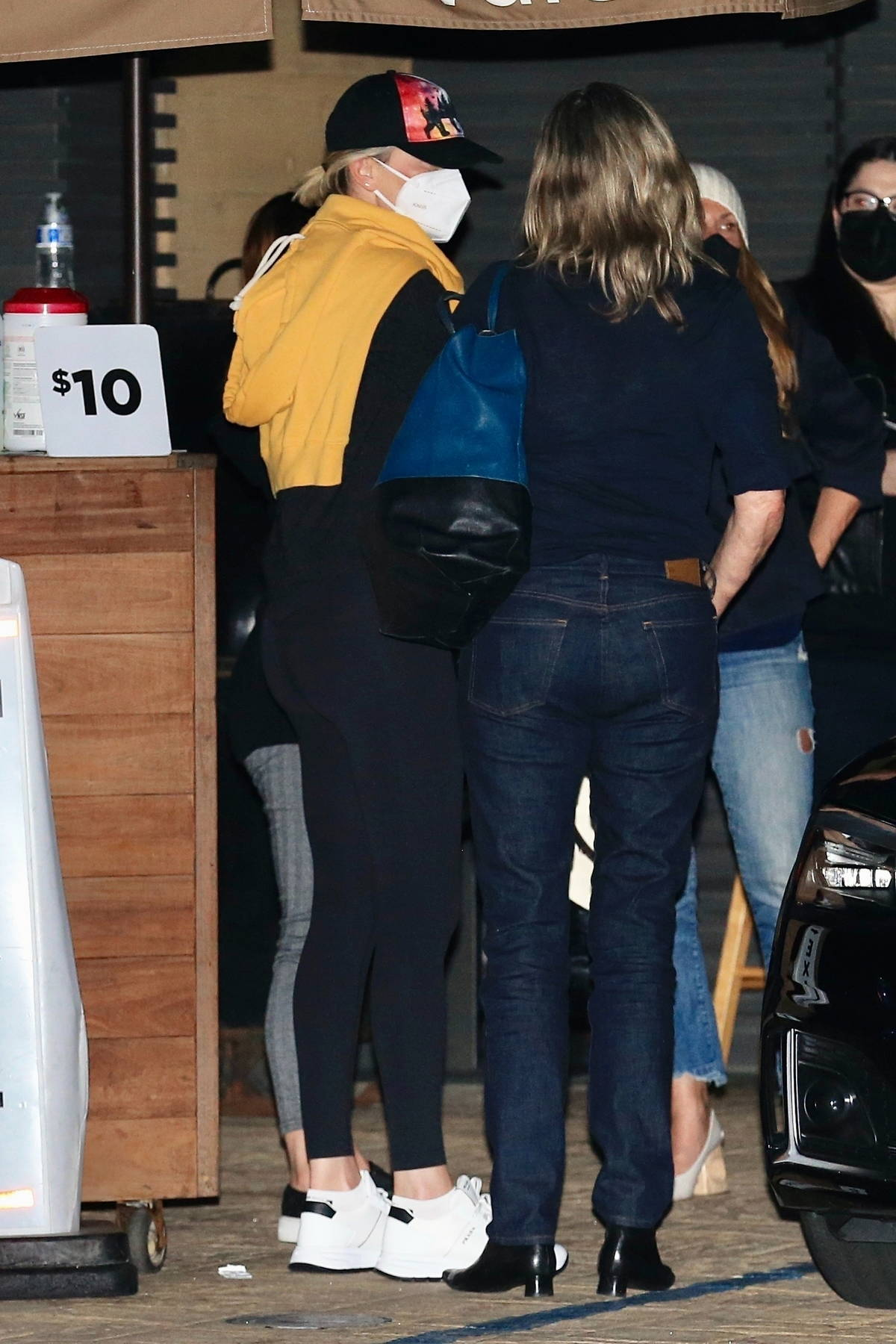 Charlize Theron keeps a low profile as she leaves after dinner with friends at Nobu in Malibu, California