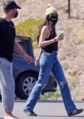 Dakota Johnson and Chris Martin step out for lunch at a local cafeteria in Malibu, California