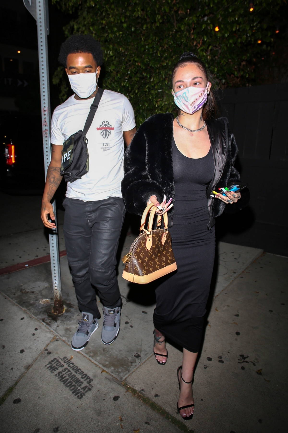 Danielle 'Bhad Bhabie' Bregoli arrives for dinner with her boyfriend in Los Angeles