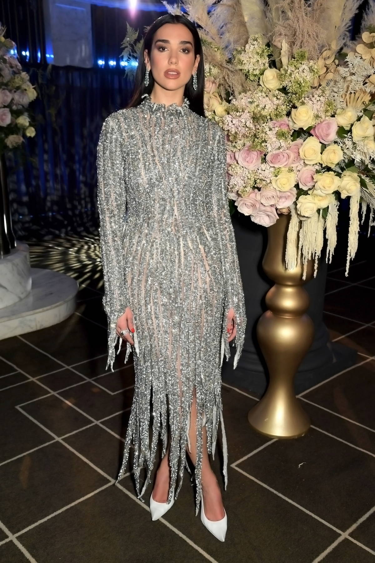 Dua Lipa attends the 29th Annual Elton John AIDS Foundation Academy Awards Viewing Party at Rosewood London in London, UK