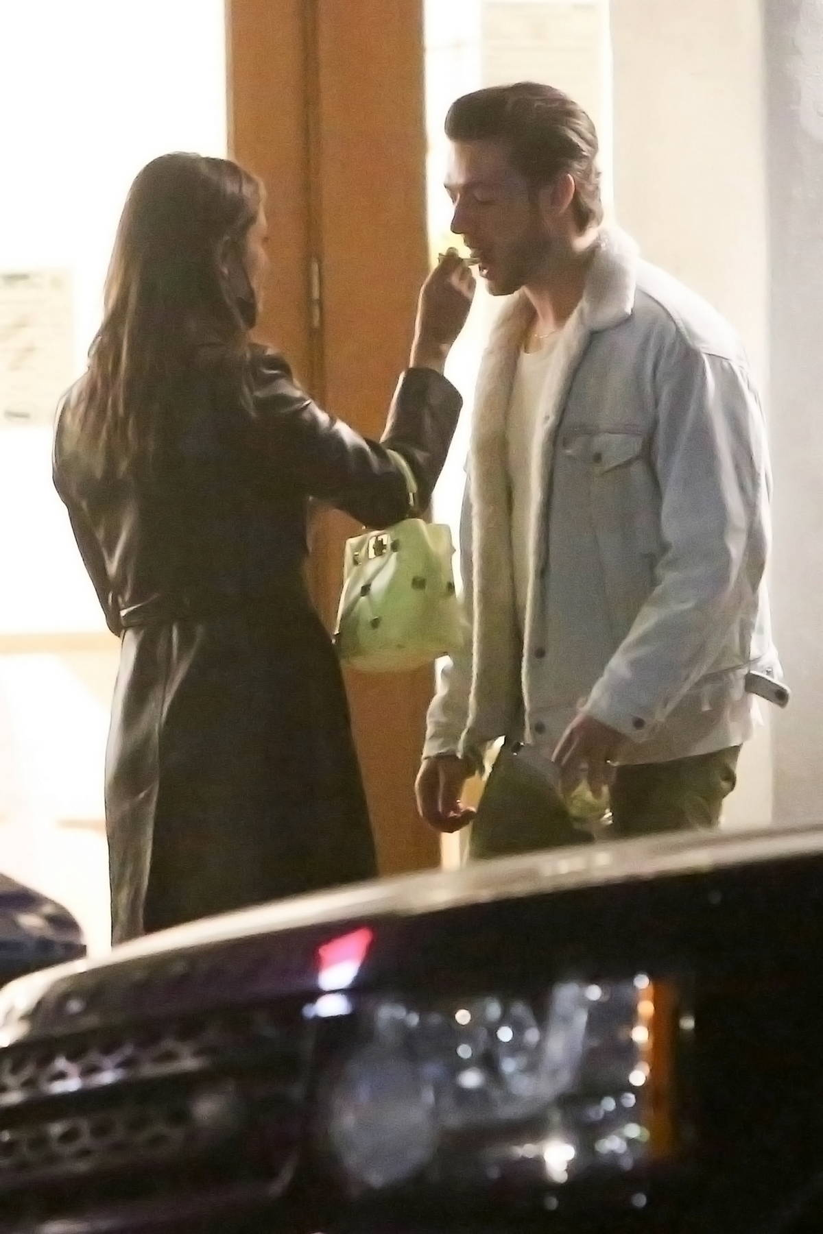Eiza Gonzalez shares an ice cream with a mystery man in Los Angeles