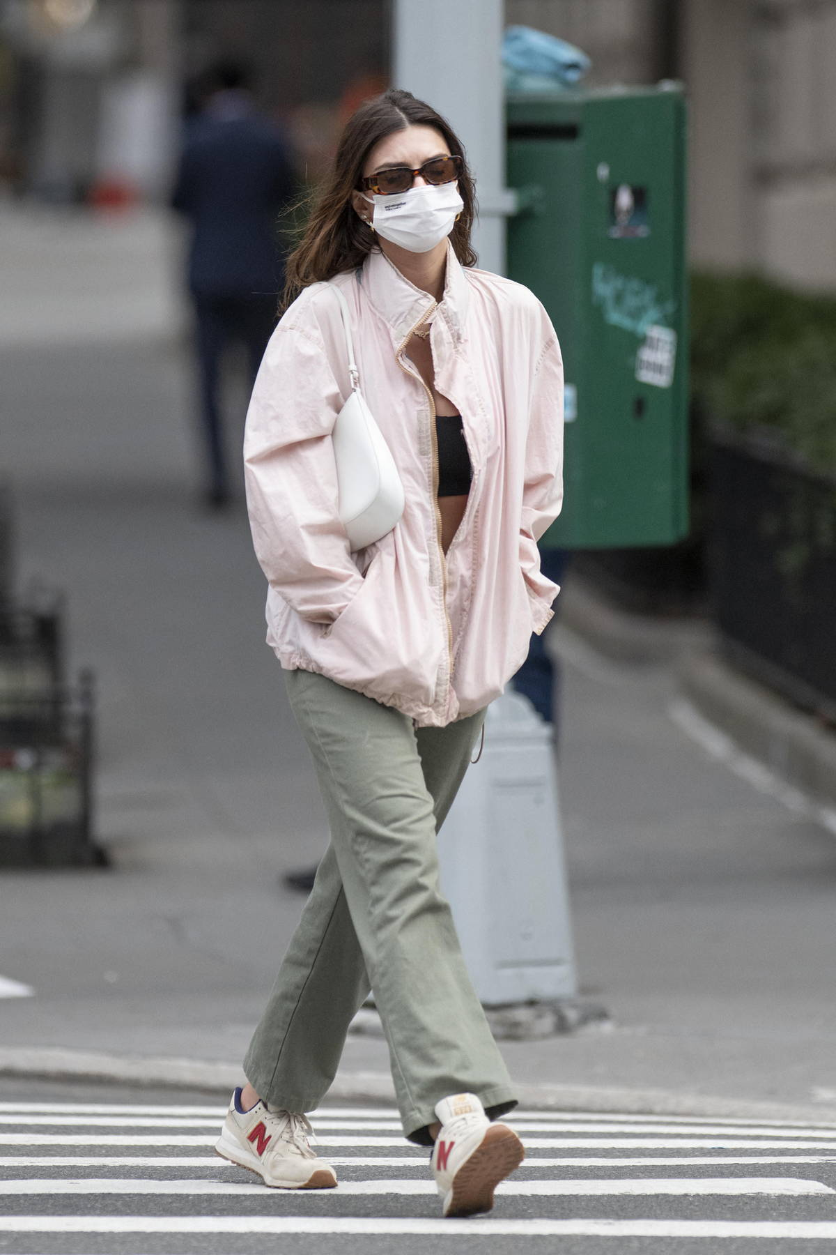 Emily Ratajkowski keeps it casual as she steps out for stroll with a friend in New York City